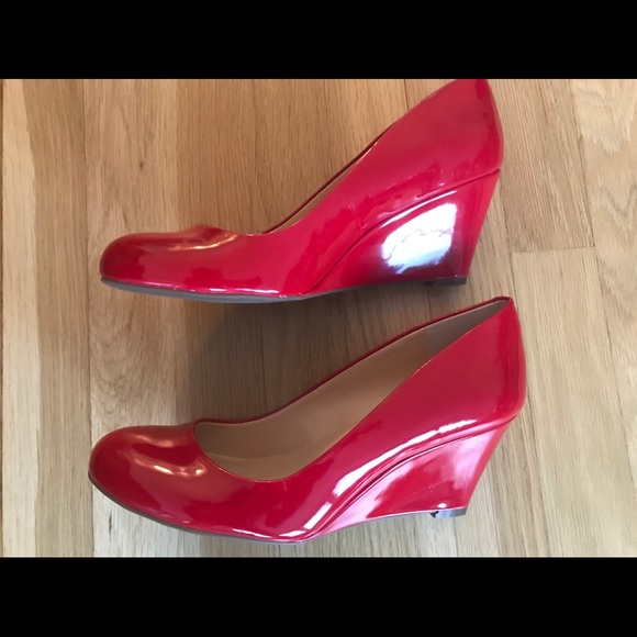 99b7503e1d Jessica Simpson Shoes | Nib Suzanna Wedge Red 85m | Poshmark
