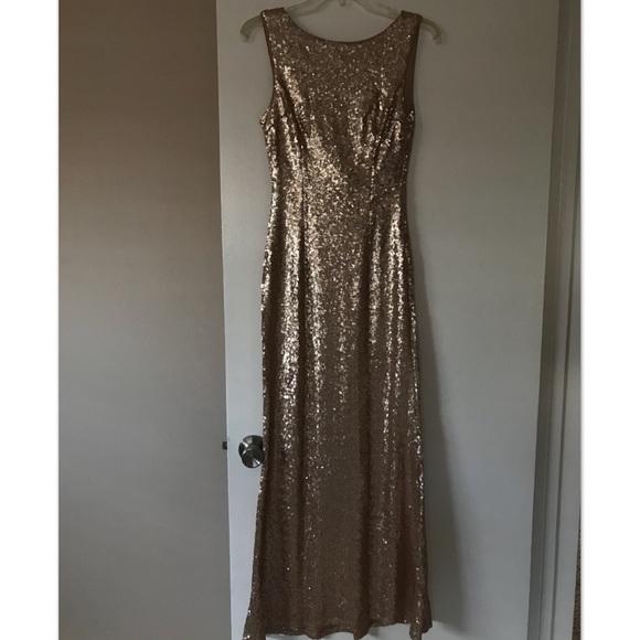 c1c4cb7f4558 Lulu's Dresses & Skirts - SLINK AND WINK MATTE ROSE GOLD SEQUIN MAXI DRESS