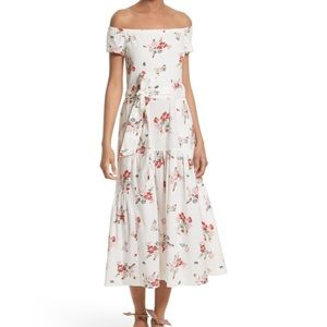 ✨ Rebecca Taylor Marguerite Floral Midi Dress ✨