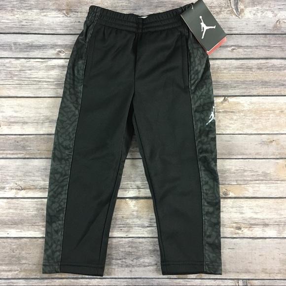 3b546a80593afb Nike Boys 2T Jordan Jumpman black gray lined pants