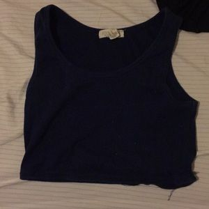 Forever 21 blue cropped tank