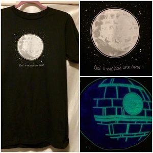 STAR WARS Glow in the Dark Death Star Tee Shirt