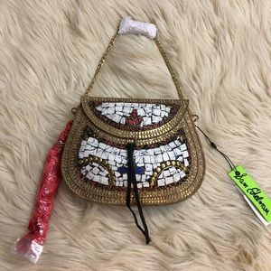 SAM EDELMAN Metal Mosaic Design Crossbody