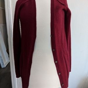 Luxe cranberry cashmere cardigan
