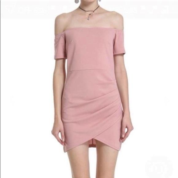 59bae0ae6a6 Dresses   Short Sleeve Off Shoulder Bodycon Irregular Dress   Poshmark