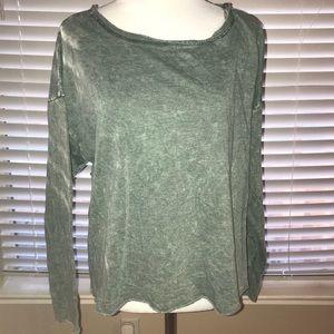 Sweaters - Light green/grey torn sweater. NWOT.