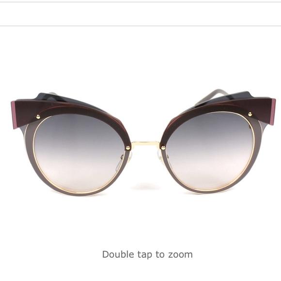 fb372d7c10a Marc Jacobs Layered Cat Eye Sunglasses. M 5a1dfd612de5126a52135036