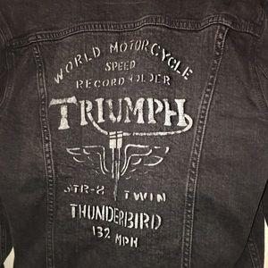 Lucky Brand Jackets Coats Black Jean Jacket Triumph Poshmark