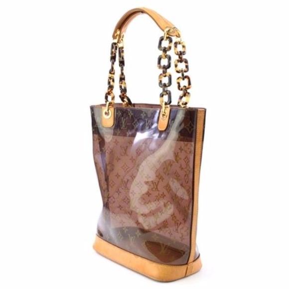 4c9382c5765f Louis Vuitton Handbags - Authentic Louis Vuitton Cabas Ambre Clear Bag