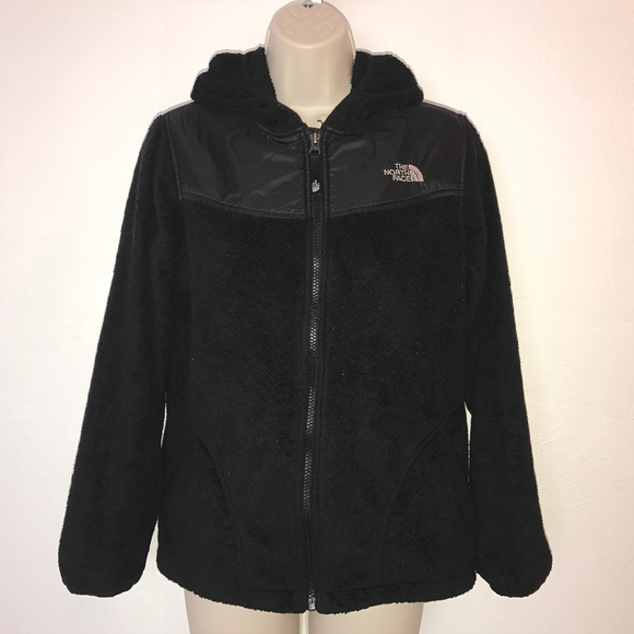 1334fa546 The North Face black monkey fleece hooded jacket