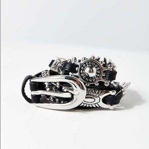 Urban Outfitters Thin Metal-Plated Belt