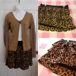 torrid Skirts - Torrid animal cat leopard 🐾 print Skirt