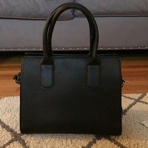 F21 black handbag