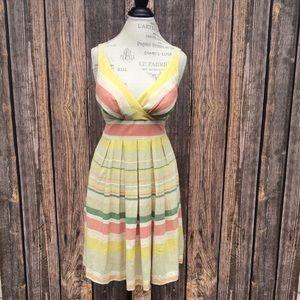 Eva Franco Anthropologie striped summer dress
