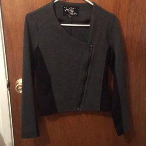 Jackets & Blazers - Grey + black blazer