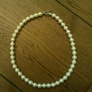 Petit Poix Jewelry - Plus Size Choker Faux Pearls