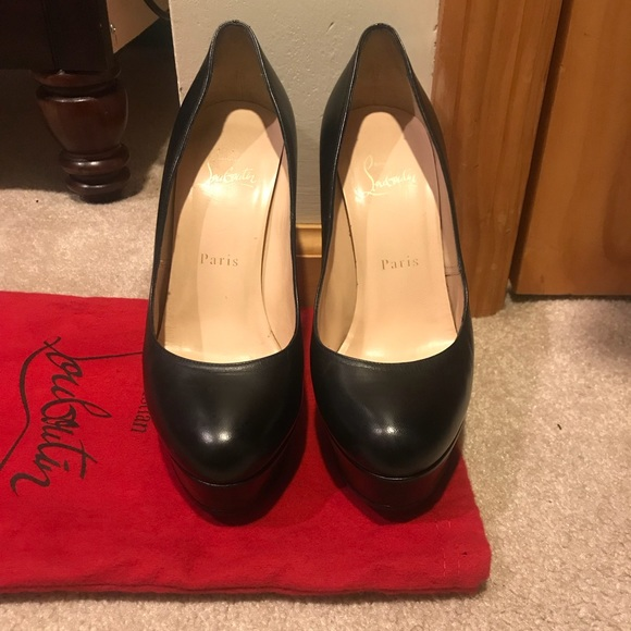 "best service 6a6fa f0d61 Christian Louboutin ""Bianca"" 140mm Black Leather"