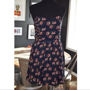 Lucca Couture Navy Floral Sleeveless Dress Sz 8