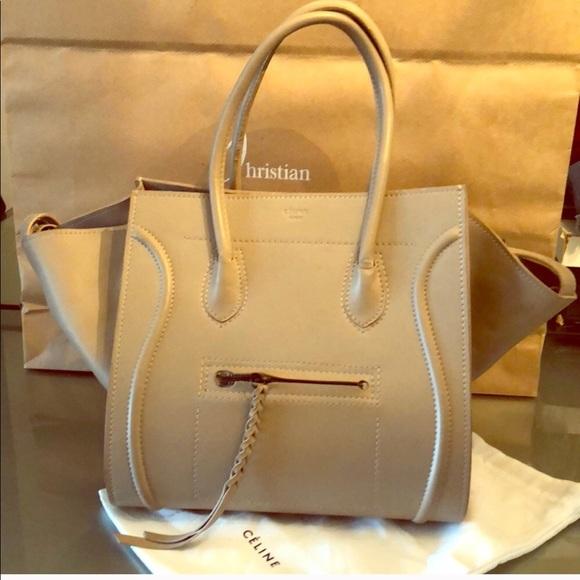216dc040c2 Celine Handbags - CELINE PHANTOM LUGGAGE Medium Tan Tote bag
