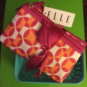 Set of 3 ELLE Cosmetic Bags