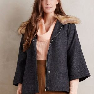 NEW Anthropologie Elevenses Collared Makana Coat
