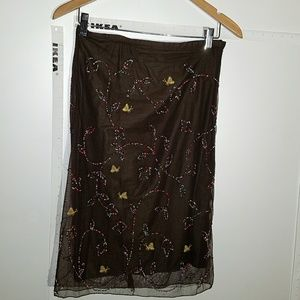 Beaded and Embroidered French Connection Skirt