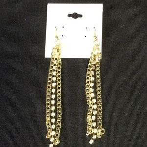 Jewelry - New Fun Gold Chain and Bling Earrings