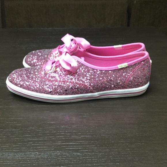 fb6583440616 kate spade Shoes - KateSpade Pink Glitter Keds
