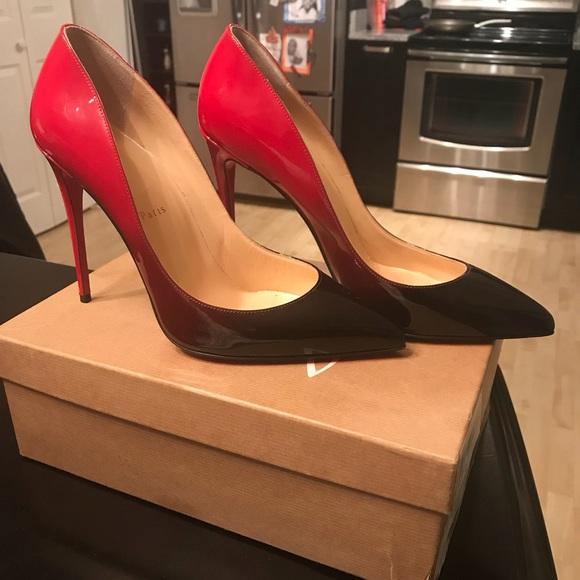 287c8a98241 Christian Louboutin Red-Black ombré heels