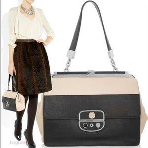 Jason Wu Cream & Black Leather Miss Wu Handbag
