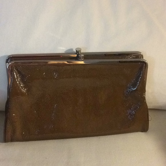 Hobo Bags Patent Double Frame Kisslock Wallet Lauren Xl Poshmark