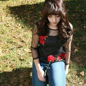 Black shear blouse
