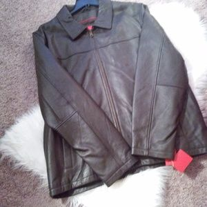 Men's Leather Jacket  sz xxl NWT