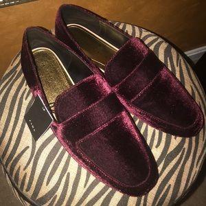 Brand New Zara Velvet Flats