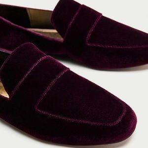 Zara Shoes - Brand New Zara Velvet Flats