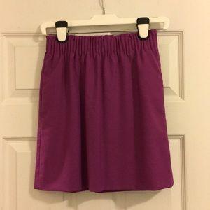 J. Crew Wool Sidewalk Skirt, Pink-Purple, Sz 0