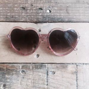 UO Crystal Pink Heart Sunglasses
