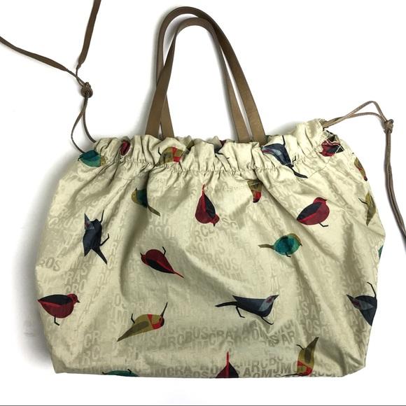 9687fcb7e8 Marc Jacobs Jumbled Birds Scrunchy Tote Bag. M_5a1e1bb6bf6df5008513e7b6