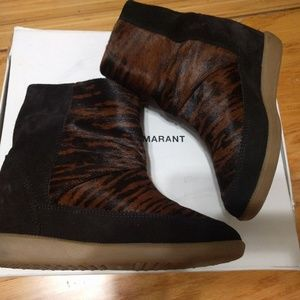 Isabel Marant pony hair boots