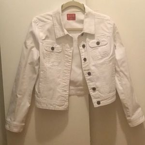 Elle White Denim Jacket Size Small