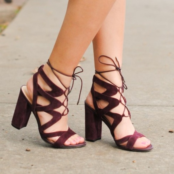 2863608c9c1 Sam Edelman Yardley Lace Up Heels in Port Wine