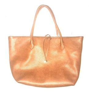 NEW Brown Leather Tote Shoulder Purse