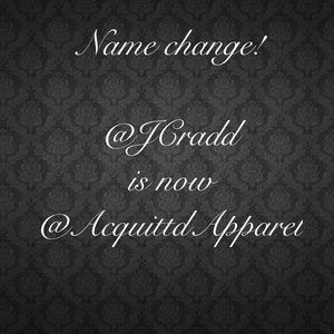 Meet your Posher, @jcradd is now @acquittdapparel