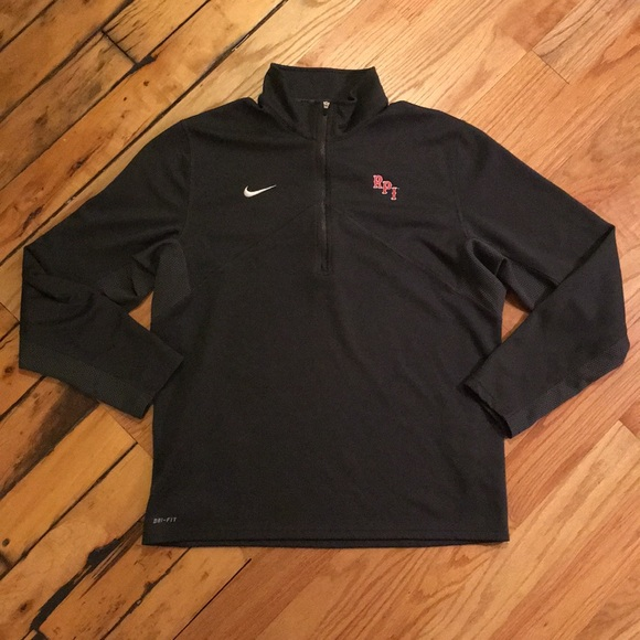 Men's Clothing Symbol Of The Brand Nike Dri Fit Zip Up Sweater