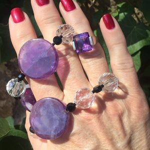 Jewelry - Ring and Necklace set. Amethyst and SS