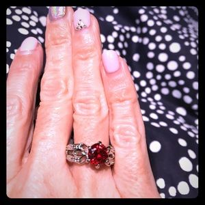 Ruby CZ ring!