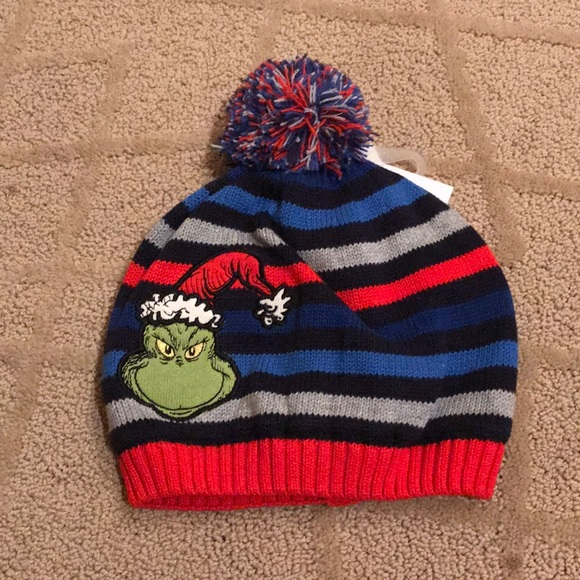 NWT Hanna Andersson Grinch Knit Hat fd83d8d0e54