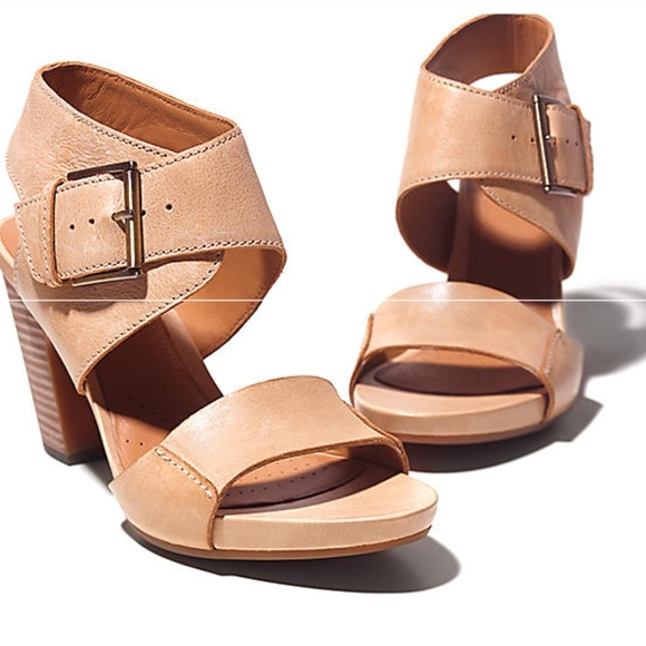 9fedc342f6a Clarks Shoes - Clarks Okena Mod Nude Heel Sandal