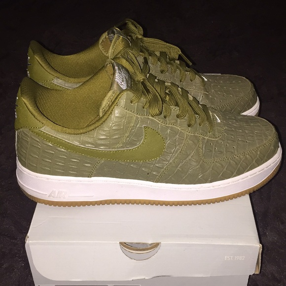 "wholesale dealer 80c42 fbca6 Nike Air Force 1 Low ""Olive Croc"""