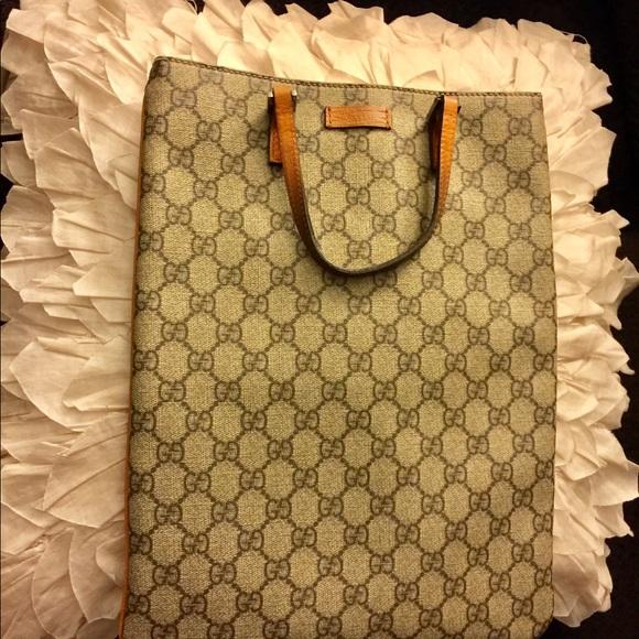 c862e855bd1b Gucci Bags   Gg Plus Monogram Flat Tote In Orange   Poshmark